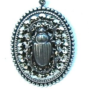 RANSOM RHINESTONE SWAROVSKI SCARAB NECKLACE SAMPLE